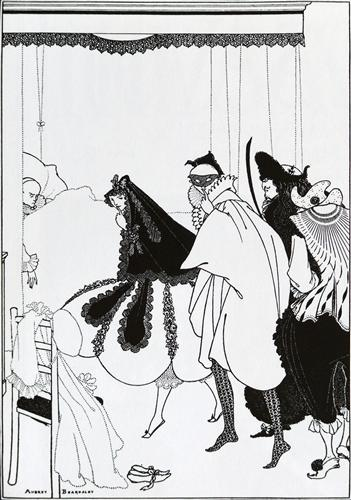 "Aubrey Beardsley, ""The Death of Pierrot"" (1896)"