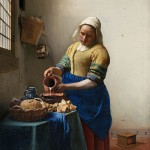 "Johannes Vermeer, ""The Milkmaid,"" composed 1657-1658."