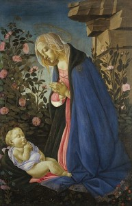 "Sandro Botticell, ""Virgin with Sleeping Christ Child"" (c. 1485)"