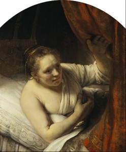 "Rembrandt, ""A Woman in Bed"" (c. 1646)"