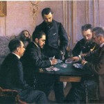 "Gustave Caillebotte, ""Game of Bezique"" (1880)"