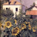 "Gustave Caillebotte, ""Sunflowers in the Garden at Petit Gennevilliers"" (1885)"